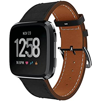 Amazon.com: KisFace Fitbit Versa Replacement Leather Bands