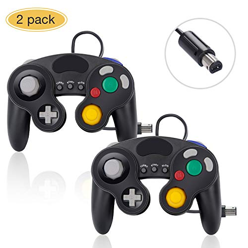 (Gamecube Controller for Nintendo Switch, 2 Pack Wired Classic Game Cube NGC Controllers Compatible with Wii U, for use with Ultimate Super Smash Bros)