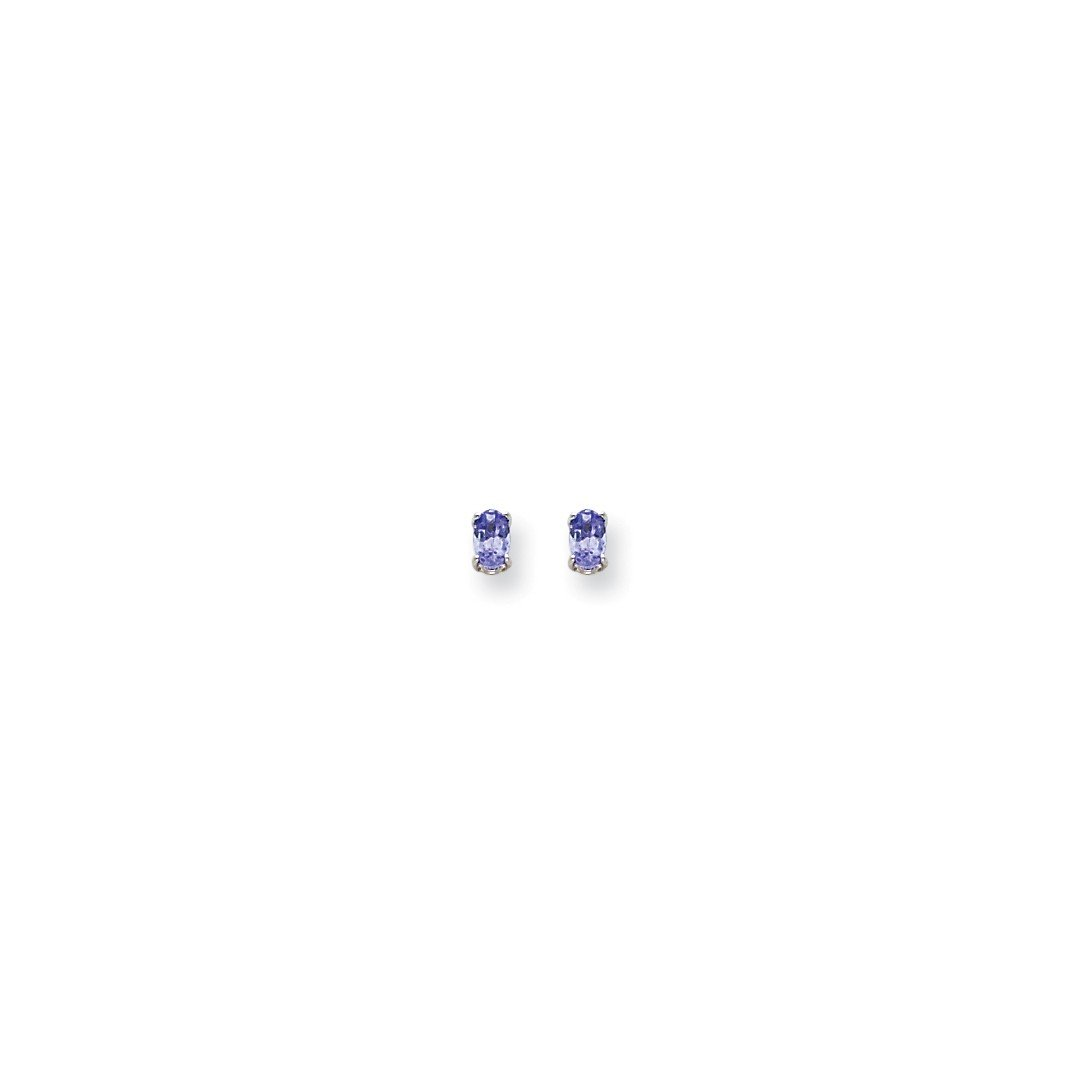 ICE CARATS 14k White Gold Blue Tanzanite Post Stud Ball Button Earrings Gemstone Fine Jewelry Gift Set For Women Heart