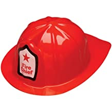 Firefighter Chief Hat Plastic Child (Set of 24)