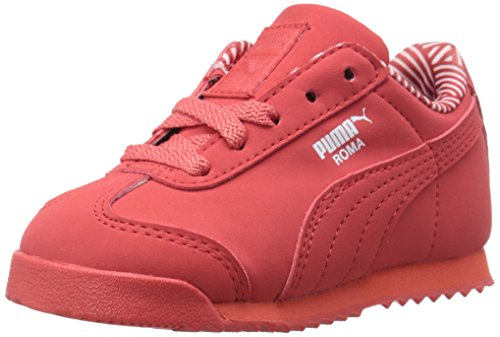 Puma Roma NM Kids Sneaker (Toddler/Little Kid/Big Kid) , Cayenne/White, 13.5 M US Little Kid
