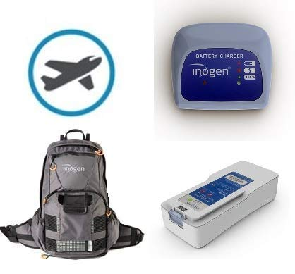 Inogen One G4 Travel Bundle | Double Battery, External Charger, Backpack, and Airline Priority Tag Identifier | Oxygen Accessories for Portable Oxygen Concentrator
