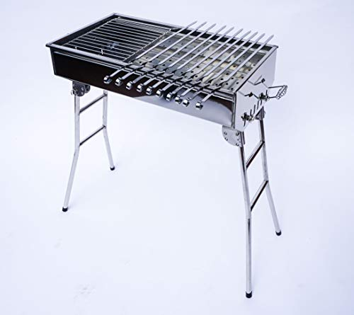 Stainless Steel Charcoal Grill Kebab BBQ Portable ()