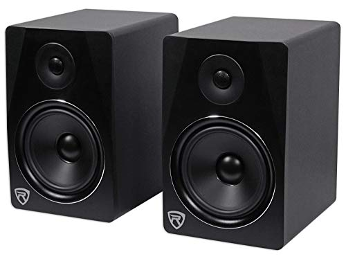 (Rockville 2-Way 500W Active/Powered USB Studio Monitor Speakers Pair, Black, 8 inch (APM8B))