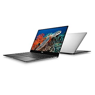 "Dell XPS 13 9370 Laptop: Core i7-8550U, 13.3"" UHD 4K Touch Display, 256GB SSD, 8GB RAM, Fingerprint Reader, Backlit Keyboard, Windows 10 (Silver)"