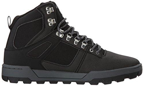 Dc Uomo Spartan High Wr Boot Scarpa Da Skate Nero / Nero / Grigio Scuro