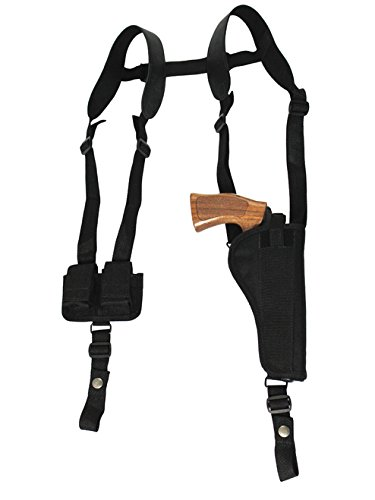 Barsony New Vertical Shoulder Holster w/Speed-Loader Pouch for COLT Trooper Right