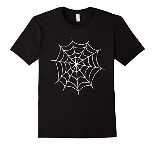 Black Widow Couples Costumes (Mens Spider Web Cobweb Halloween Costume T Shirt Medium Black)