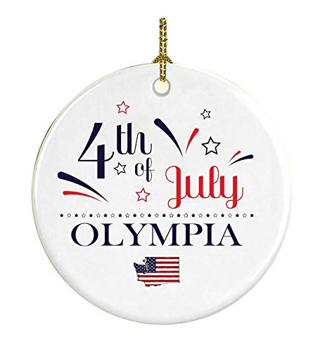 4Th Of July Decorations For The Home Olympia Washington Independence Day Decor Decorations Patriotic American Red White Blue Star Decorations America Pride Ceramic 3 inches