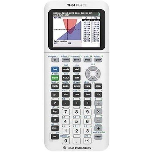 TI-84 Plus CE Color Graphing Calculator, White (Ti Calculators 84)