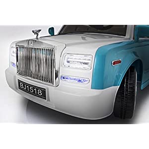 SPORTrax-Ghost-Luxury-Kids-Ride-On-Car-Battery-Powered-Remote-Control-wFREE-MP3-Player-Blue