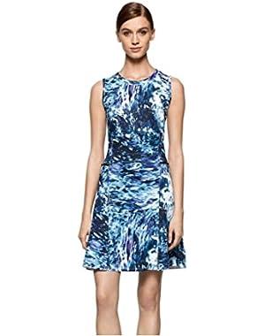 Jeans Women's Printed Scuba Dress