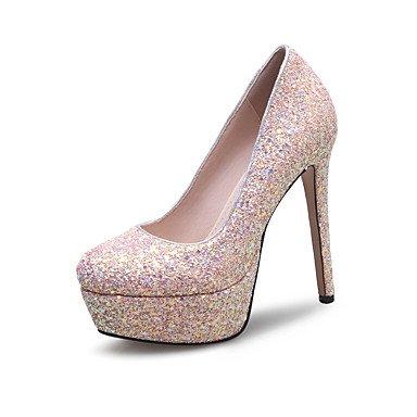 Talones de las mujeres Zapatos Primavera Verano Otoño Invierno Club de brillo personalizada Materiales banquete de boda y vestido de noche con lentejuelas estilete del talón Red