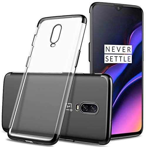 IVSO Case for Oneplus 6T - JS Scratch Resistant Premium Flexible Soft Anti Slip TPU Case for The Oneplus 6T Smartphone (Black)