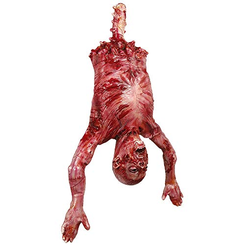 Halloween Props Latex Hanging Half Body Corpse, Chamber of Secrets Haunted House Decorations, Bloody Hanging Man Corpse Body Non-Toxic Odorless Corrosion - Hanging Corpse Prop