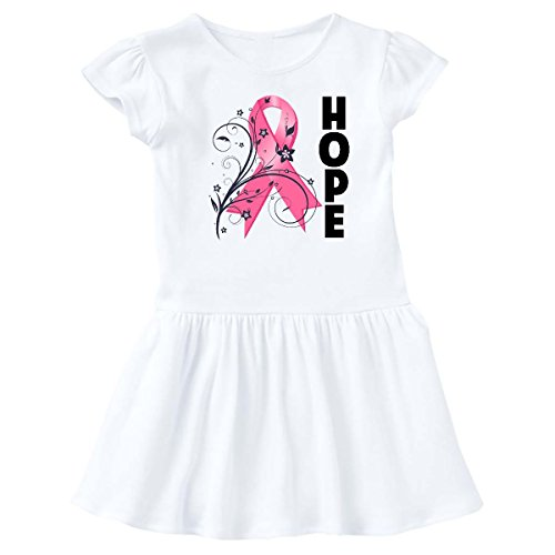 inktastic - Breast Cancer Floral Hope Infant Dress 12 Months White - HDD 1e97b -