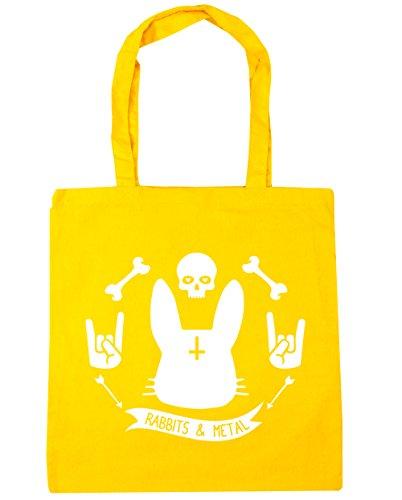 Bolsa De Hippowarehouse Mujer Amarillo Playa Algodón BZapqd