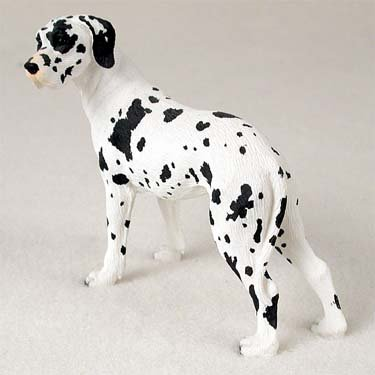 - Conversation Concepts Great Dane Harlequin w/Uncropped Ears Standard Figurine (Set of 6)