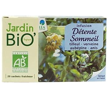 Jardin Bio Infusion Detente Et Sommeil 20 Sachets Amazon Fr