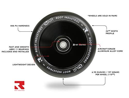 Root Industries 110mm AIR Wheels - (Pair) (Black/Black) by Root Industries (Image #1)