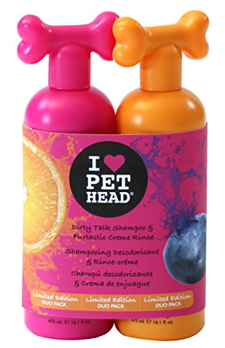 The Company of Animals Pet Head Dirty Talk Shampoo and Furtastic Conditioner Duo Pack 1