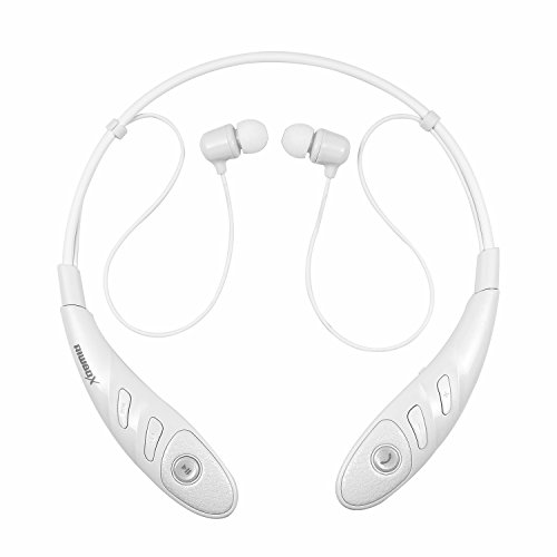 Riwbox H860 Wireless Bluetooth CSR4.0 Sport Stereo Headset Flex Neck Strap Style Earphone Headphone for iPhone6 6s Plus iPad SAMSUNG (White)