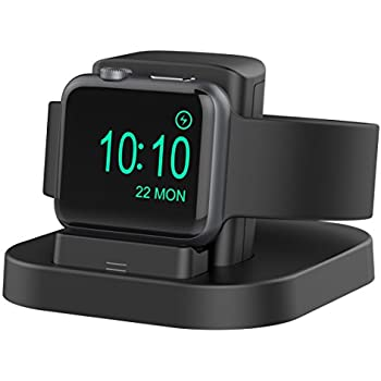 Apple Watch Stand with Nightstand Mode, charging dock for Apple Watch Series1/ Series2/Nike+/42mm/38mm. Support Apple Watch NightStand Mode with Various Case.