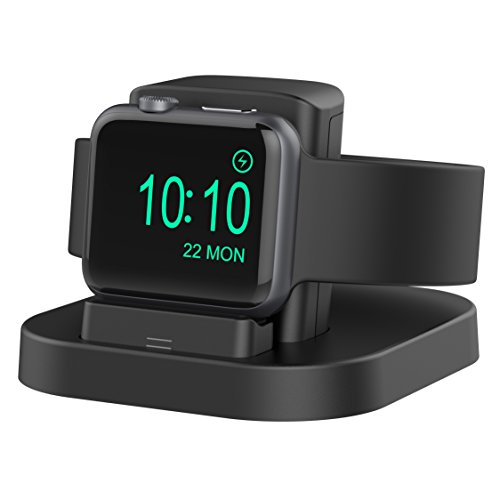 Beacoo Compatible for Apple Watch Stand with Nightstand Mode, Charging Dock Compatible Apple Watch Series4/Apple Watch Series3/ Series2/Nike+/42mm/38mm Support Night Stand Mode with Various Case