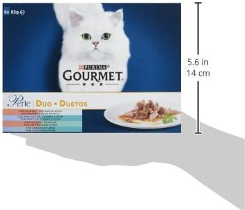 Purina Gourmet Perle Finas Láminas DUO del Mar comida para gato en ...