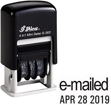 Shiny Self Inking Rubber Date Stamp