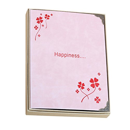 ALUS-DIY photo album Self-Adhesive Type Black Inside Page Family Album Lovers Creative Handmade Gifts Pink PU Leather Cover Children