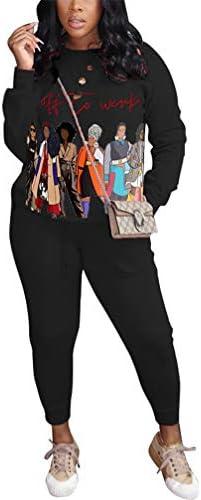 Women's Two Piece Outfits Tracksuits Jogging Suits 2 Pc Sets Sweatshirts + Sweatpants Jogger Pants Sweatsuits