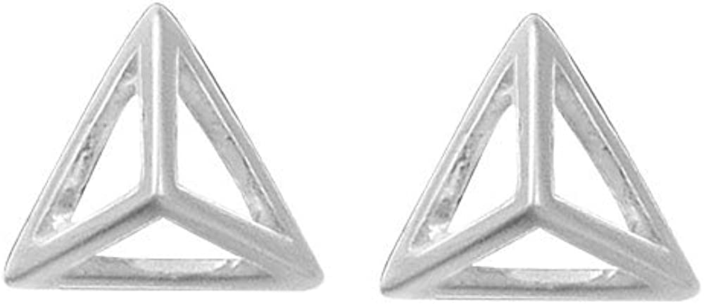 Boma Jewelry Sterling Silver Pyramid Stud Earrings
