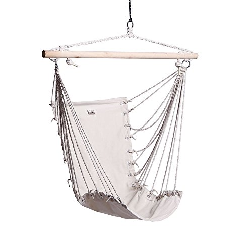 Boshen Hanging Hammock Chair Porch Swing Seat for Patio, Yard, Garden, Indoor and Outdoor Leisure Max to 250lbs