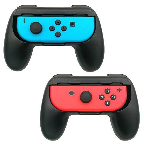 FastSnail Nintendo Switch Joy-Con Grips, Wear-resistant Joy-con Handle for Nintendo Switch, Black