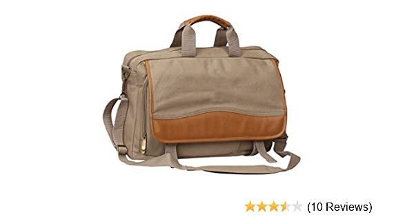 Sand P9613SAND Preferred Nation Expandable School Working Canvas Briefcase Bag