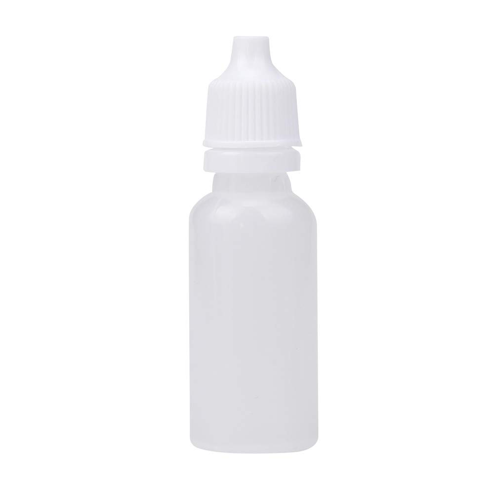 Plastic Dropper Bottle 15ML Empty Applicator Bottle Squeezable Eye Liquid Essential Oil Squeeze Bottle Small Dropper Refillable Containers with Caps (25)