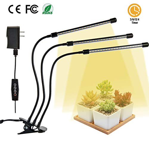 vplus Plant Grow Light 30W LED Growing Lights 6 Dimmable Levels Full Spectrum Grow Lamp Bulbs with 3 6 12H Timing Auto on Off for Indoor Plants Fruits Veg and Flowers