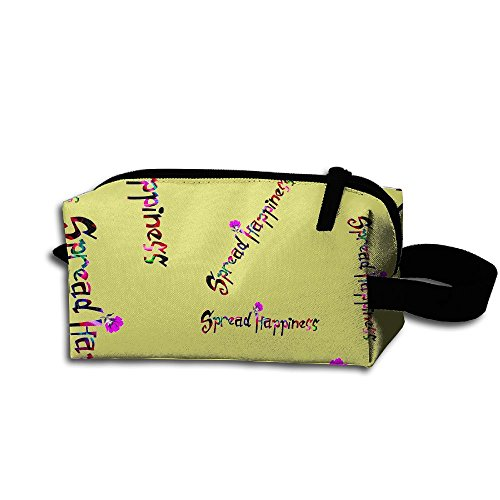 Spread Happiness Unisex Portable Cosmetic Bag Pouch Bag For Travel Camping
