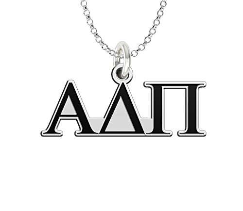 (Alpha Delta Pi Sterling Silver Antique Letters Charm)