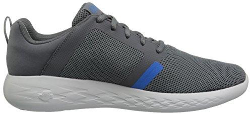 Skechers Performance Herren Laufschuh 600-55069 Sneaker Holzkohle / Blau