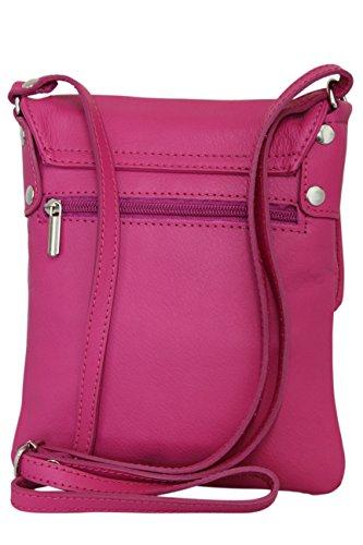 Ambra pour sac Rose en cuir sacoche Bonbon bandoulière cuir à petit Moda Sac nappa femme NL602 italien rTqrS8