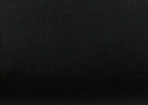 (Magic-fix Peel & Stick Faux Leather Pre-Pasted Polyurethane Leather Self-Adhesive (Buffalo Black : 19.68 inch X 53.14 inch))