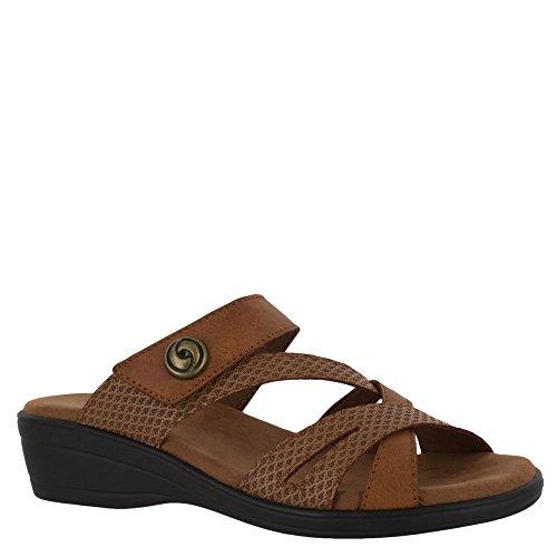 Lätt Gatusärdrags Kvinnor Sandal 10 2a (n) Oss Tan