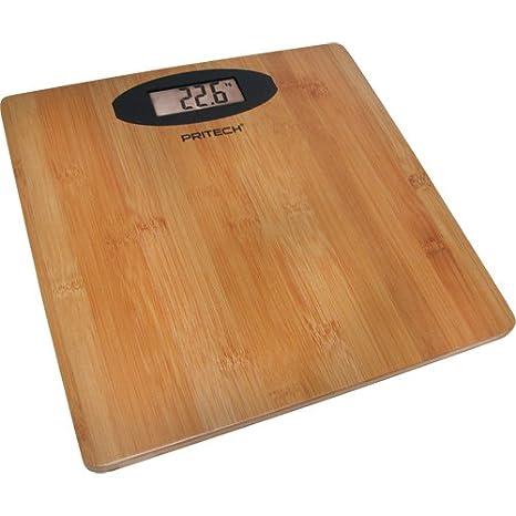 Bascula de Baño Digital madera de Bambu Bamboo - Diseño elegante - Wooden Digital personal Scale: Amazon.es: Salud y cuidado personal