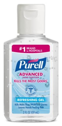 Purell Advanced Hand Sanitizer Refreshing Gel 2 oz (Pack of 12) by Purell