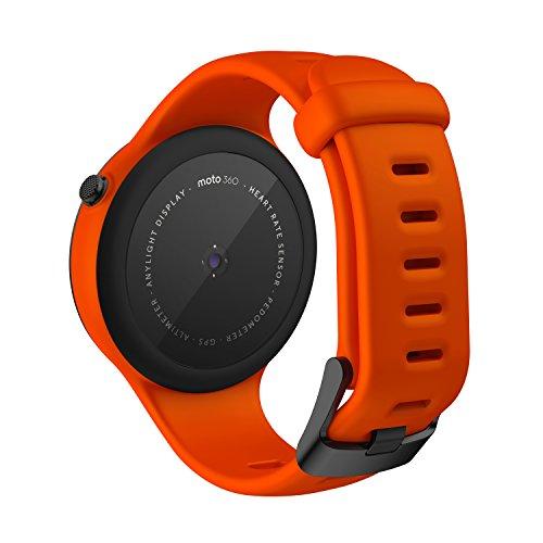 motorola 360 sport. amazon.com: motorola moto 360 sport - 45mm, flame: cell phones \u0026 accessories