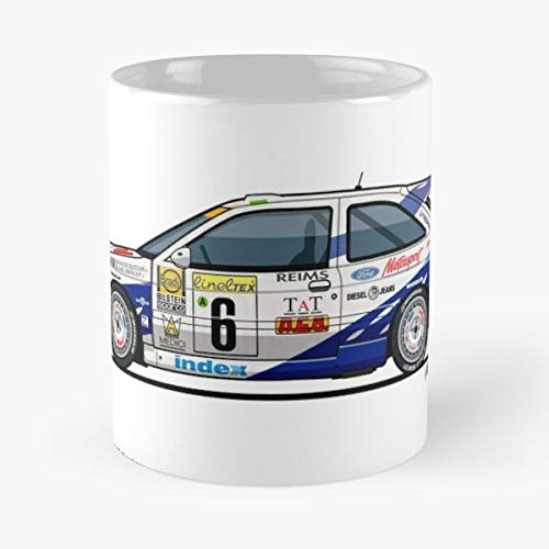 Whale Tail Spoiler - Car Ford Cosworth Diamond White Coffee Mugs Unique Ceramic Novelty Cup
