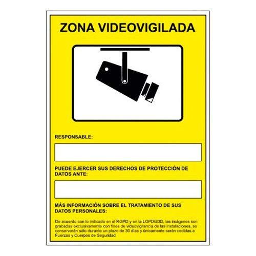 Cartel en PVC de Cámaras de Vigilancia en grabación las 24 horas