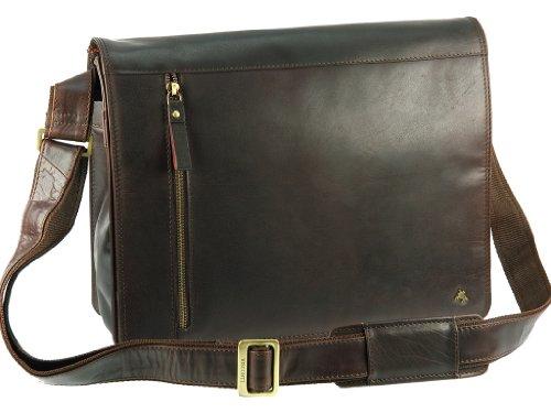 Visconti Buffalo Leather 13 Inch Laptop Case Messenger Shoulder Bag Handbag, Brown, One Size by Visconti
